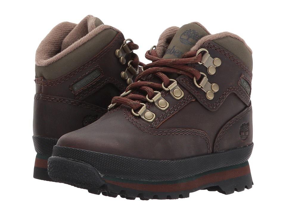 Timberland Kids Timberland Authentics Euro Hikers (Toddler) (Brown Smooth) Boys Shoes
