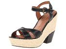 Corso Como Roxi (Black Calf) Women's Wedge Shoes