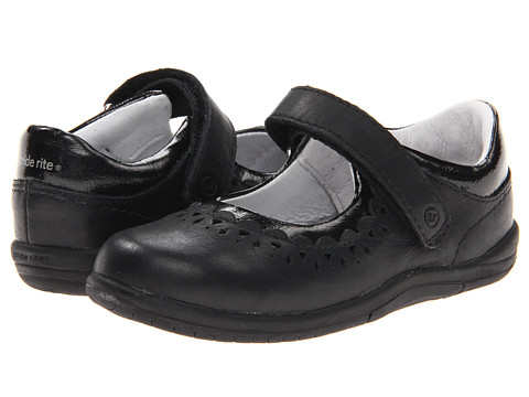 Stride Rite - SRT Cora (Toddler) (Black Leather) Girls Shoes