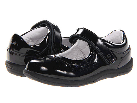 Stride Rite - SRT Cora (Toddler) (Black Patent) Girls Shoes