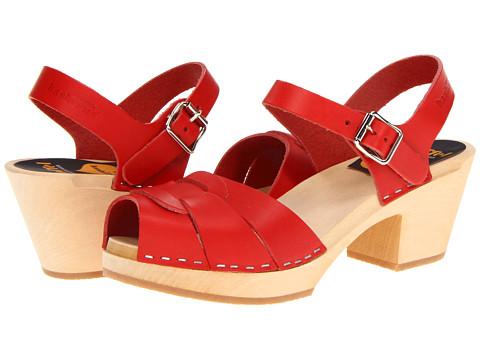 Swedish Hasbeens - Peep Toe High (Red) Women