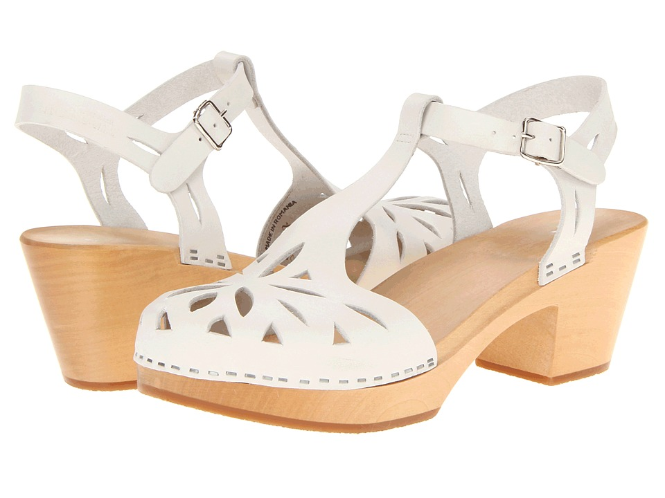 Swedish Hasbeens - Lacy Sandal (White) High Heels