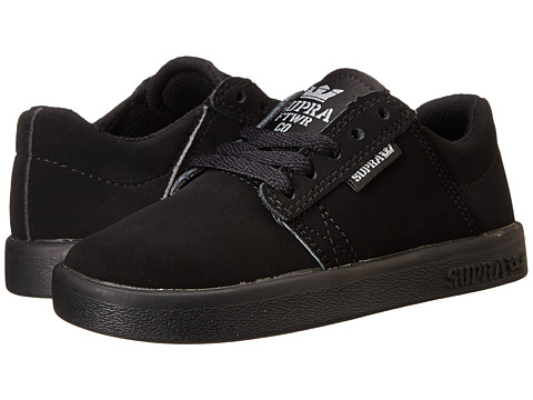 Supra - Westway (Little Kid/Big Kid) (Black/Black/Black) Men's Skate Shoes