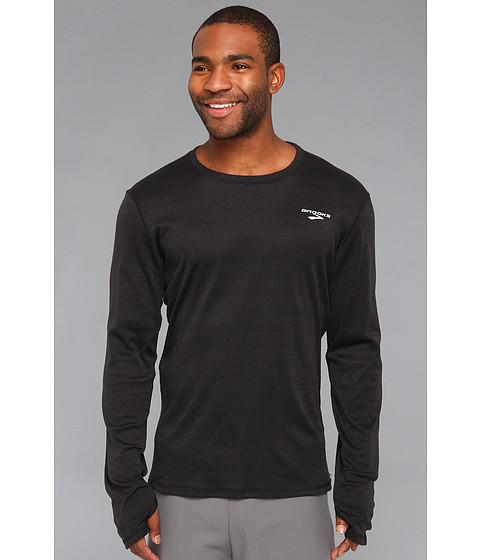 Brooks - Heater Hog Long Sleeve Shirt (Black) Men