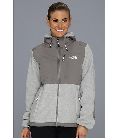 The North Face Denali Hoodie (R TNF White Heather/Pache Grey) Women's Coat