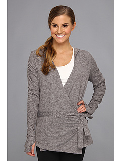 SALE! $41.99 - Save $48 on Moving Comfort Chic Wrap (Ebony Heather) Apparel - 53.34% OFF $90.00