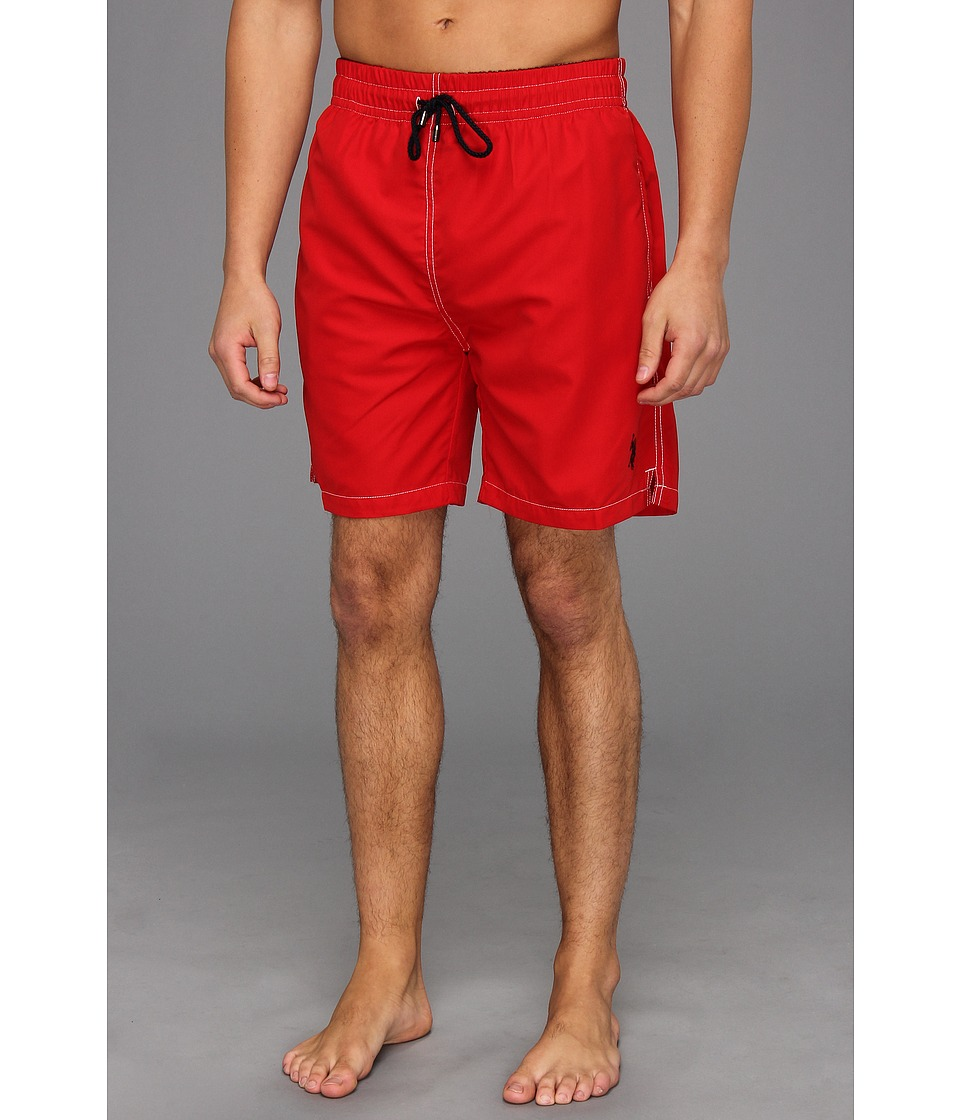 U.S. POLO ASSN. - 7 Classic Solid Small Pony (Engine Red) Men's Swimwear