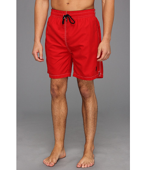 U.S. POLO ASSN. - 7 Classic Solid Small Pony (Engine Red) Men