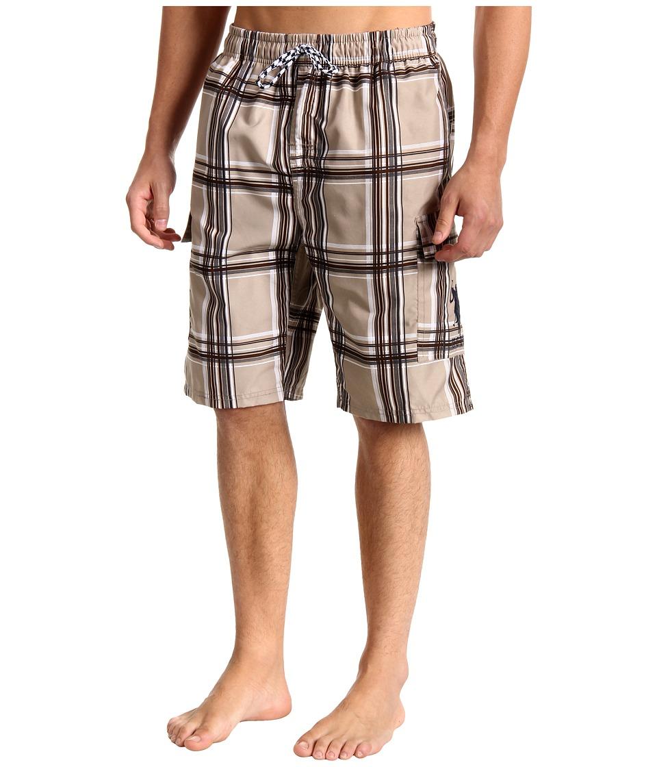 U.S. POLO ASSN. - 11 Woven Plaid Cargo (Thompson Khaki) Men's Shorts
