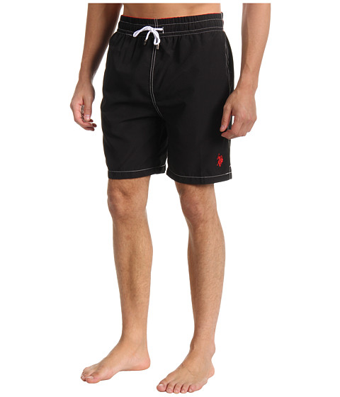 U.S. POLO ASSN. - 7 Classic Solid Small Pony (Black) Men