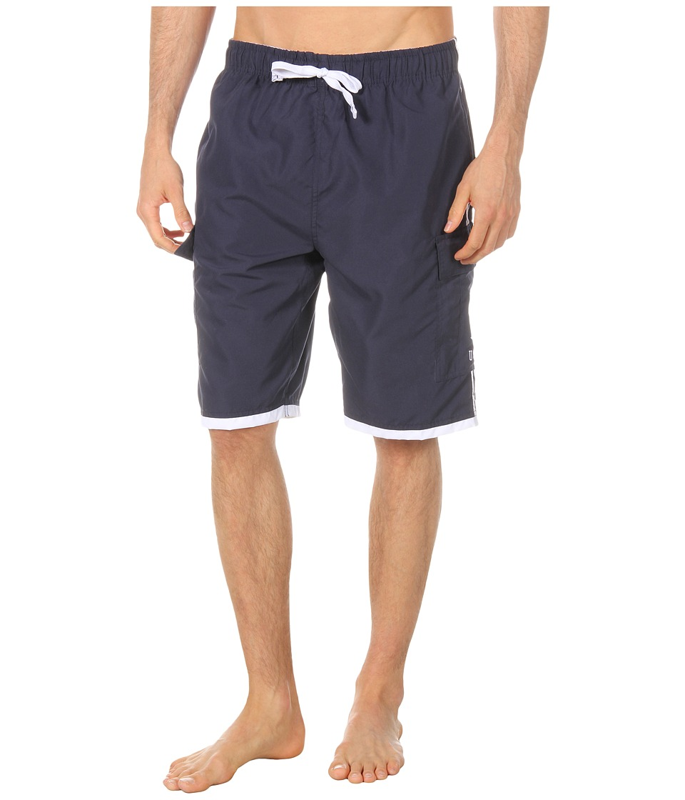 U.S. POLO ASSN. - 11 Double Side Stripe Cargo (Classic Navy) Men's Swimwear