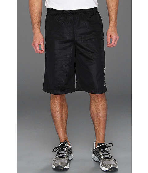U.S. POLO ASSN. - 11 Solid Poly Mesh Short with Big Pony (Black) Men's Swimwear