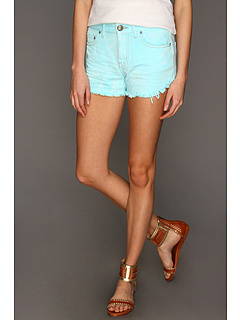 SALE! $26.99 - Save $41 on Free People Dolphin Hem Colored Denim Cutoff Short (Aqua) Apparel - 60.31% OFF $68.00