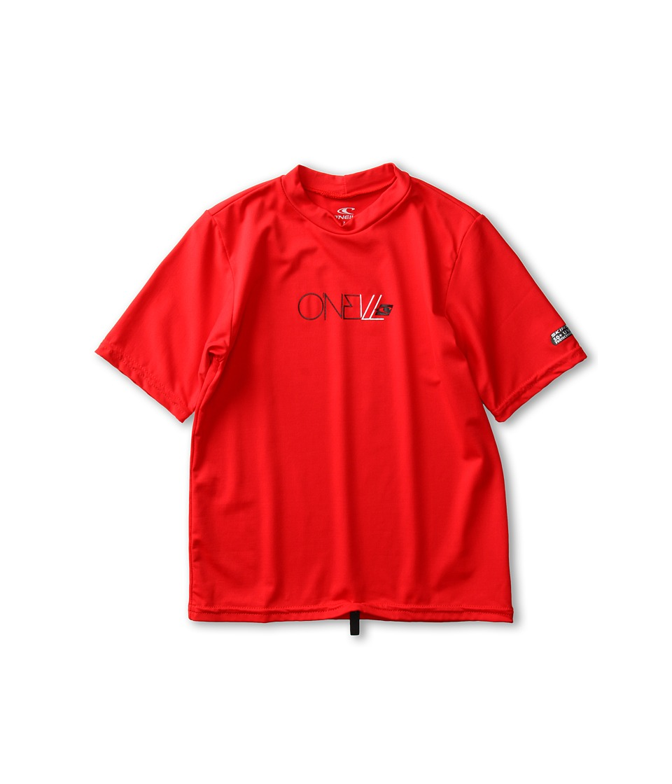 O'Neill Kids - Skins S/S Rash Tee (Little Kids/Big Kids) (Red) Kid's Swimwear
