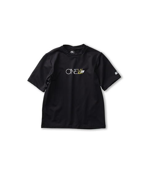 O'Neill Kids - Skins S/S Rash Tee (Little Kids/Big Kids) (Black) Kid's Swimwear
