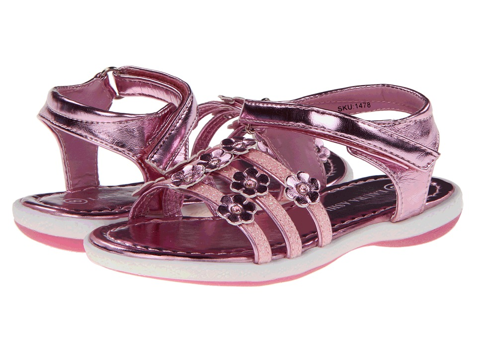 Laura Ashley Kids - LA3028 (Infant/Toddler) (Pink Metal) Girls Shoes