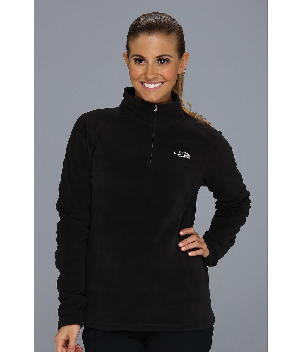 The North Face - Glacier 1/4 Zip (TNF Black (Foil Grey logo)) Women's Sweatshirt