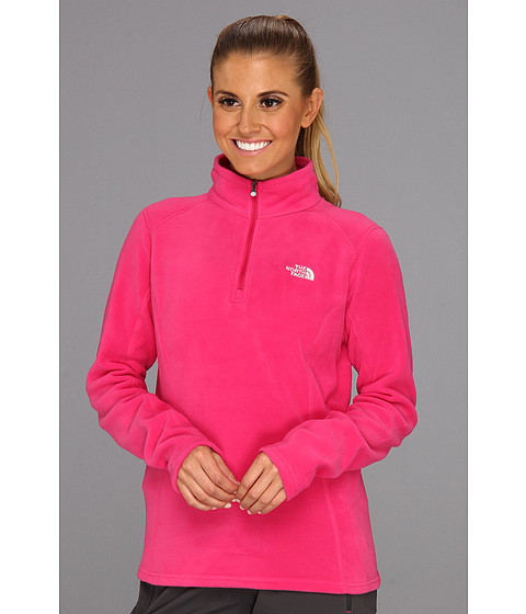 The North Face - Glacier 1/4 Zip (Passion Pink) Women's Sweatshirt