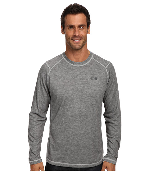 The North Face - L/S RDT Crew (Heather Grey) Men's Long Sleeve Pullover