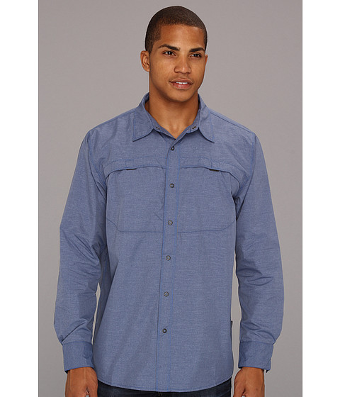 The North Face - L/S Boone Woven (Nautical Blue Plaid) Men's Long Sleeve Button Up
