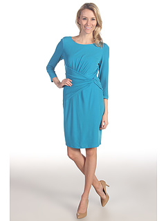 SALE! $66.99 - Save $81 on Suzi Chin for Maggy Boutique 3 4 Sleeve Ruched Sheath Dress (Oceana) Apparel - 54.74% OFF $148.00