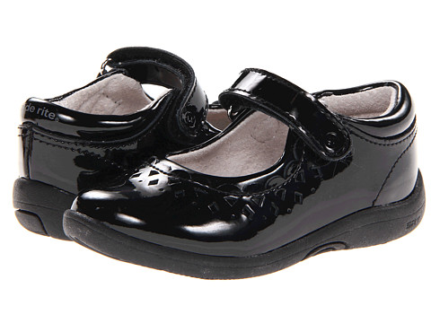 Stride Rite - SRT PS Cora (Toddler/Little Kid/Big Kid) (Black Patent) Girls Shoes