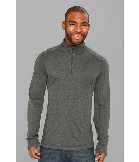Royal Robbins - Mission Knit L/S 1/4 Zip (Charcoal) Men