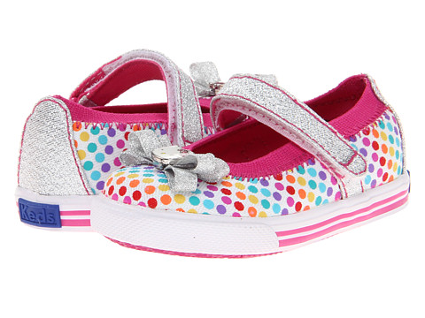 Keds Kids - Bow-Lovely Crib (Infant) (Rainbow Dots) Girls Shoes