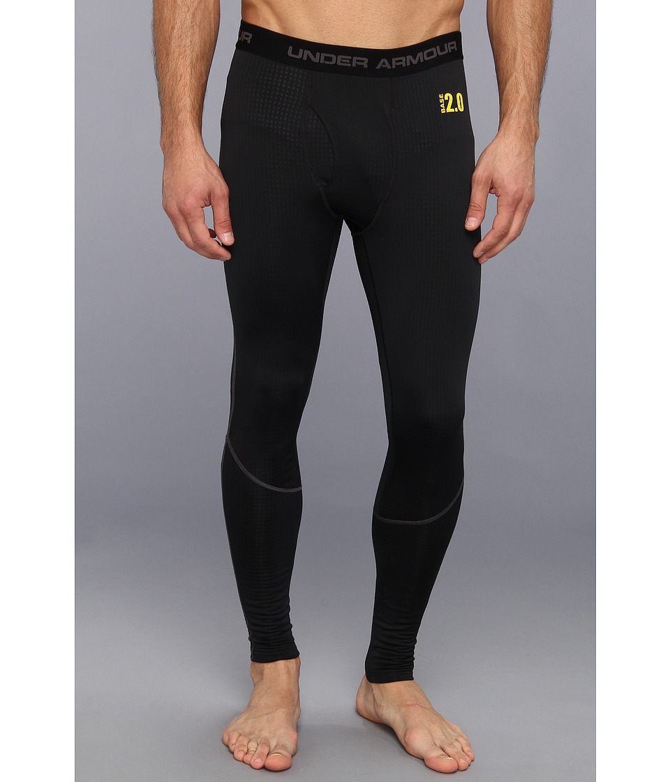 Under Armour - UA BASEtm 2.0 Legging (Black/Battleship/School Bus) Men's Clothing