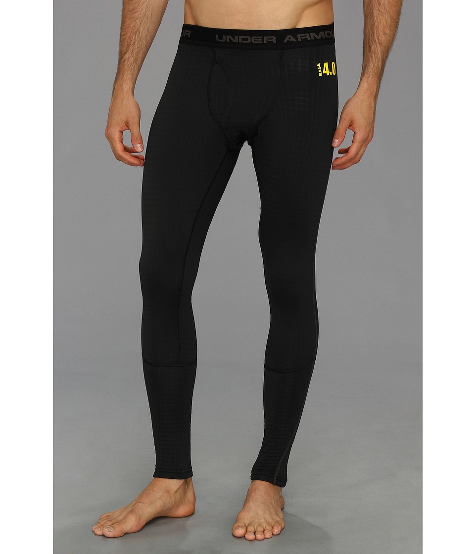 Under Armour - UA BASEtm 4.0 Legging (Black/Battleship/School Bus) Men's Clothing