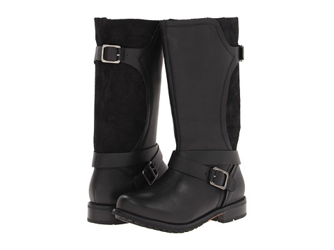 OluKai - Pa ia Leather (Black/Black) Women