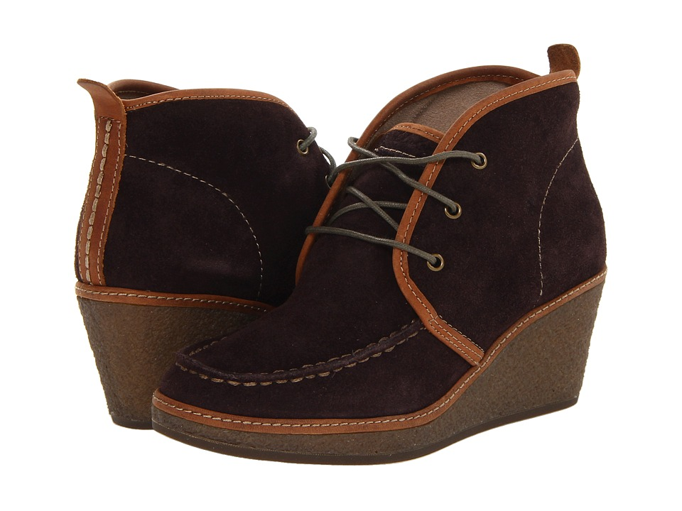 OluKai - Wali Wedge Suede (French Roast) Women's Shoes
