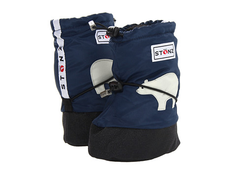 Stonz - Baby Booties (Toddler) (Polar Bear/Navy Blue) Boy's Shoes
