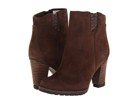 Timberland - Earthkeeepers Stratham Hights Ankle Boot (Dark Brown) Women's Boots