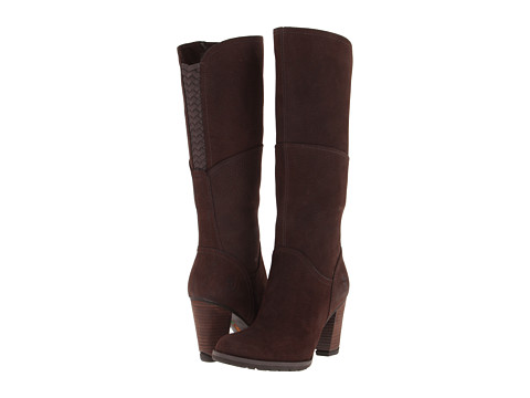 Timberland - Earthkeepers Stratham Heights Tall Zip Boot (Dark Brown) Women
