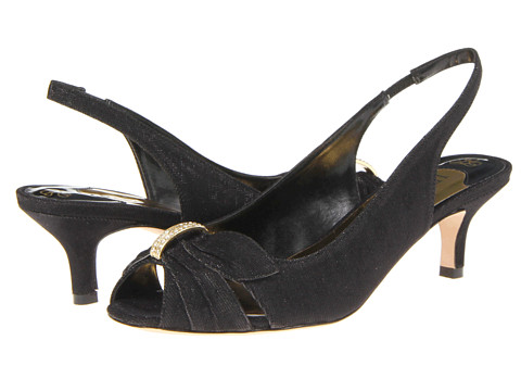 J. Renee - Slader (Black) Women's Sling Back Shoes