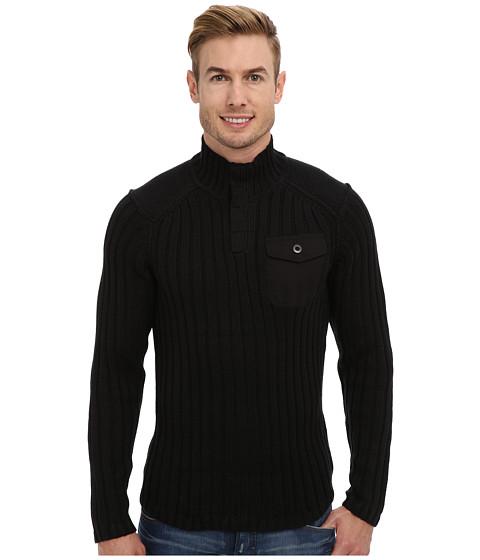 Royal Robbins - Quebec Snap Mock Sweater (Jet Black) Men's Sweater