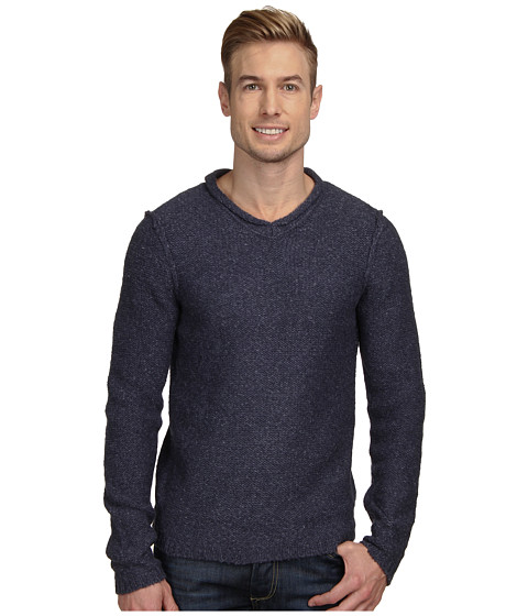 Royal Robbins - Scotia V-Neck Sweater (Deep Blue) Men