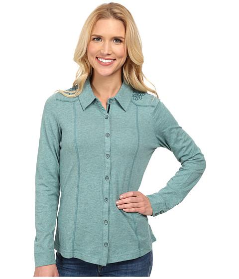 Royal Robbins - Sun Dance L/S Shirt (Light Teal) Women's Long Sleeve Button Up