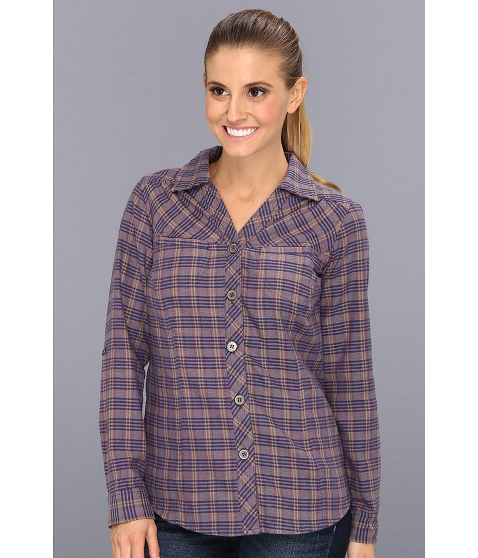 Royal Robbins - Ticaboo Plaid L/S Shirt (Lavender) Women's Long Sleeve Button Up