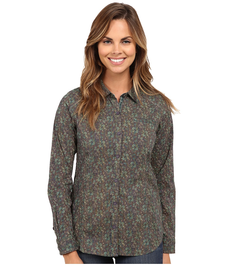 Royal Robbins - Shooting Star L/S Shirt (Light Teal) Women's Long Sleeve Button Up