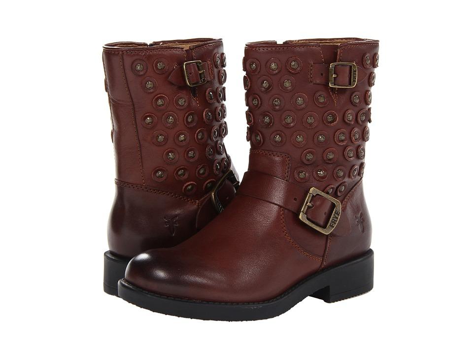 Frye Kids - Jenna Disc Short Boot (Little Kid/Big Kid) (Brown) Girls Shoes