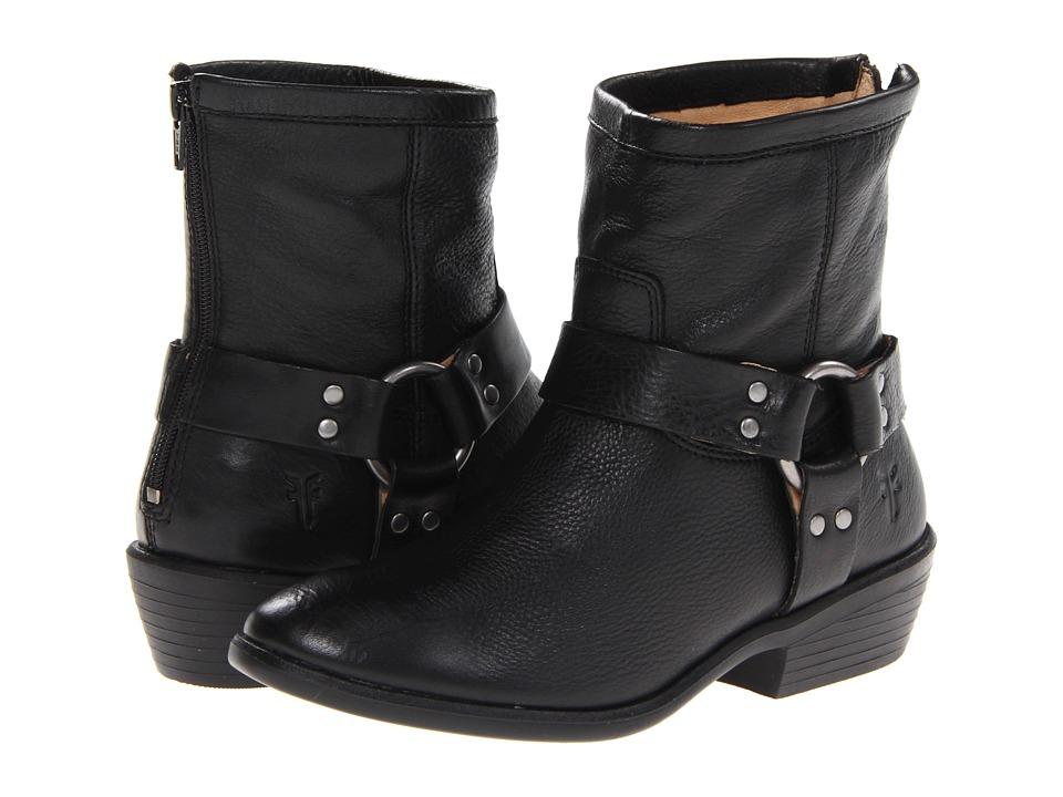 Frye Kids - Phillip Harness Short Boot (Little Kid/Big Kid) (Black) Girls Shoes