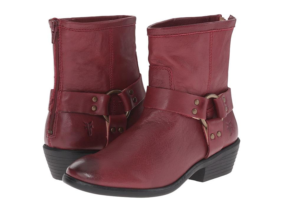 Frye Kids - Phillip Harness Short Boot (Little Kid/Big Kid) (Burnt Red) Girls Shoes