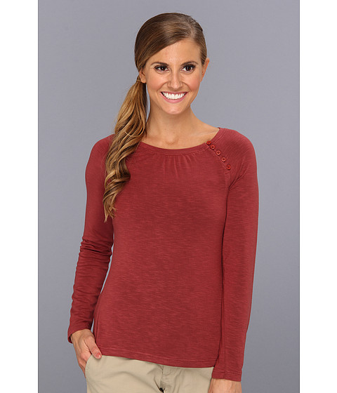 Royal Robbins - Nabru L/S Button Crew (Tawny Port) Women