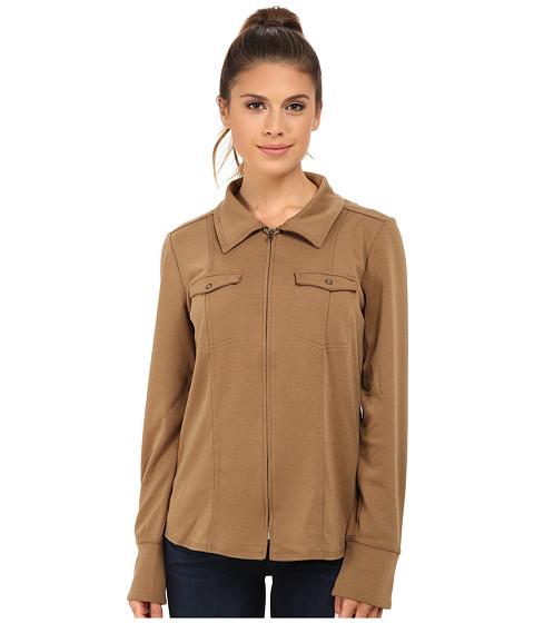 Royal Robbins - Ponte Zip Shirt (Tan) Women's Clothing