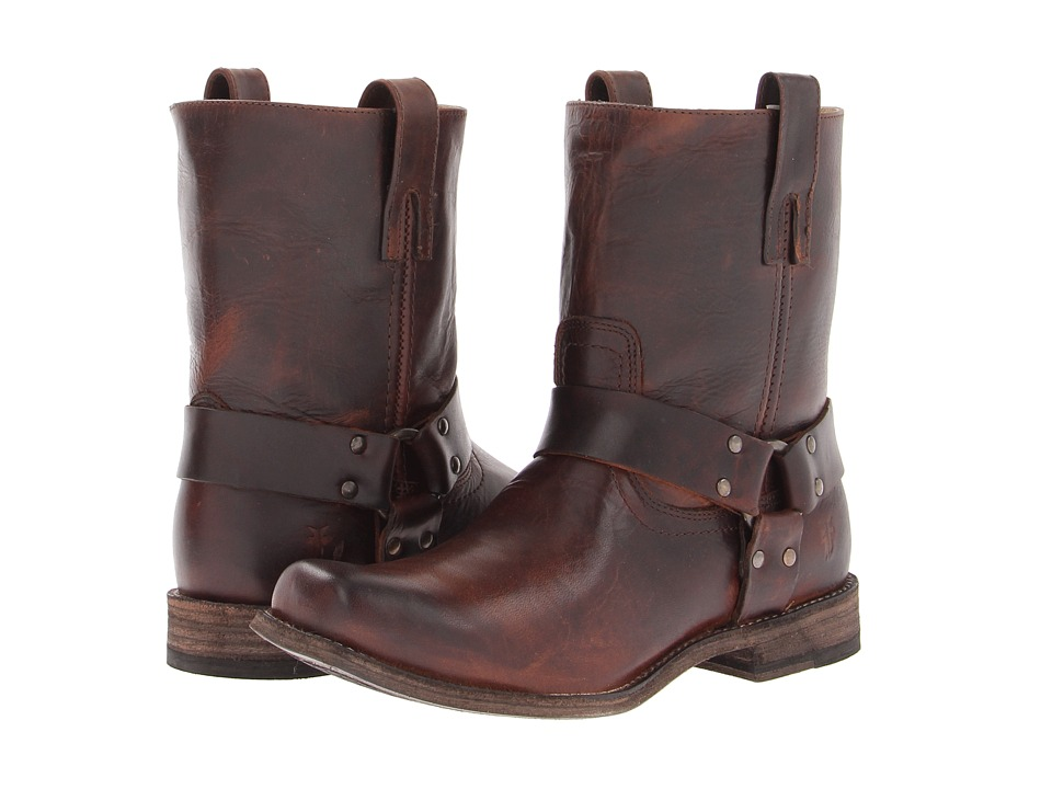 Frye - Smith Harness (Dark Brown Antique Pull Up) Men's Pull-on Boots