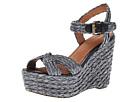 Corso Como Ballo (Black Raffia) Women's Wedge Shoes