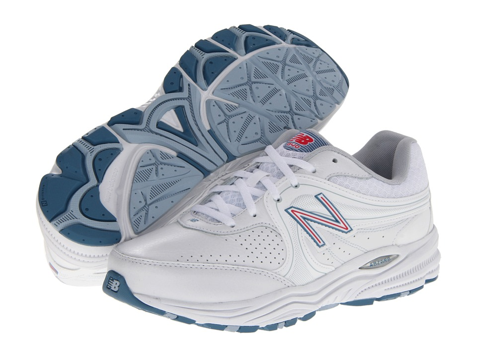 0a78ad058301c ... UPC 887687073455 product image for New Balance WW840 (White/Pink) Women's  Walking Shoes