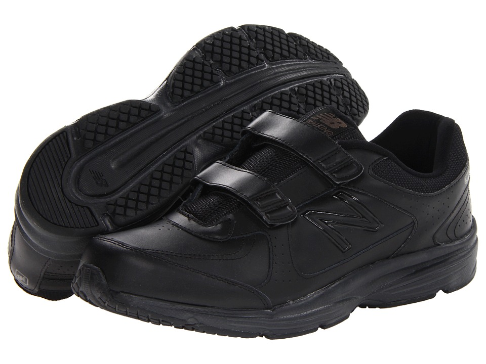 New Balance - MW411 - Hook-and-Loop (Black 2) Men's Walking Shoes
